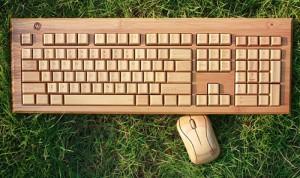 Mouse e Tastiera in Bamboo